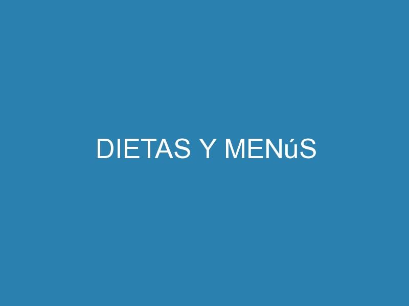 Dietas y menús