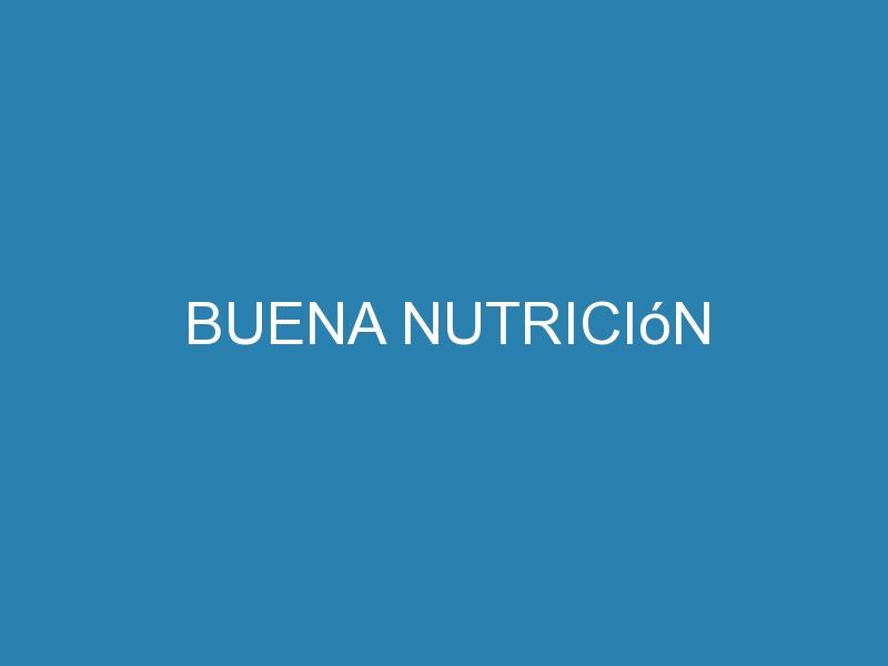 Buena nutrición 1